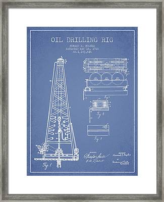 Vintage Oil Drilling Rig Patent From 1916 Framed Print by Aged Pixel