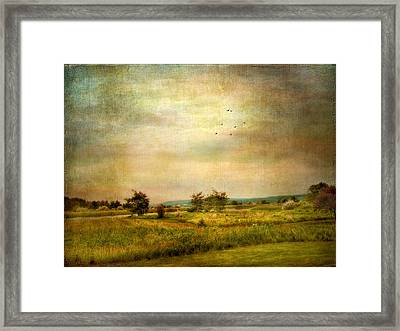 Vintage Valley View Framed Print by Jessica Jenney