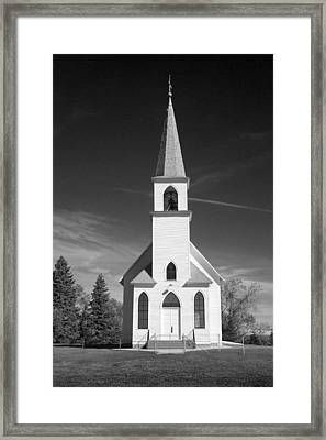 Vintage White Church Framed Print by Donald  Erickson