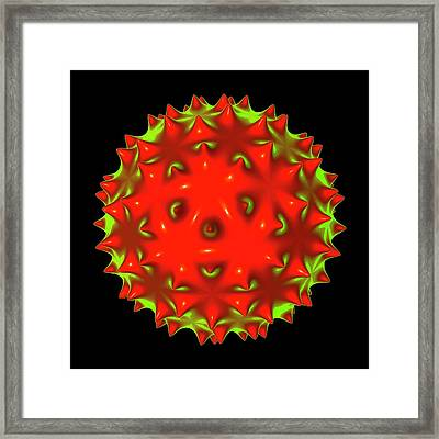 Virus Framed Print by Mehau Kulyk