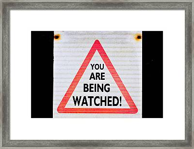 Warning Sign Framed Print by Tom Gowanlock