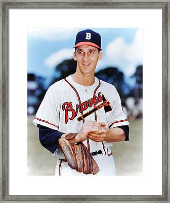 Warren Spahn Framed Print by Retro Images Archive