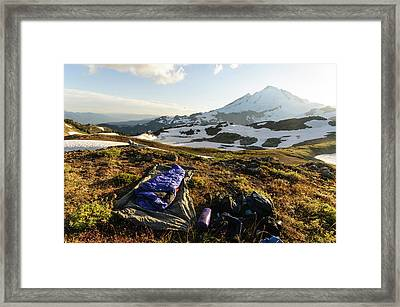 Washington, Cascade Mountains Framed Print by Matt Freedman