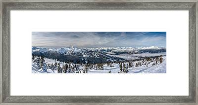 Whistler Mountain Peak View From Blackcomb Framed Print by Pierre Leclerc Photography