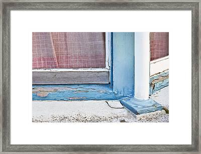 Window Frame Framed Print by Tom Gowanlock