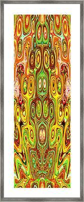 Woodcraft Ghosts Spirits Indian Native Aboriginal Masks Motif Symbol Emblem Ethnic Rituals Display H Framed Print by Navin Joshi