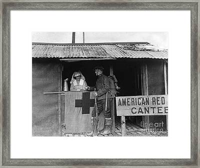 World War I: Red Cross Framed Print by Granger