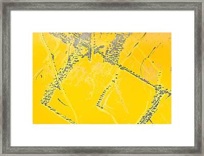 Yellow Metal Framed Print by Tom Gowanlock