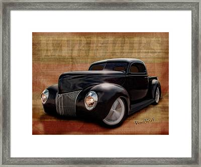 40 Ford Pickup Warriors Framed Print by Chas Sinklier