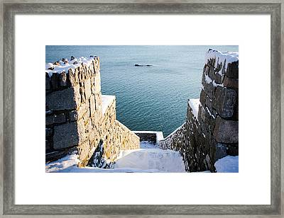 40 Steps In Winter Framed Print by Allan Millora