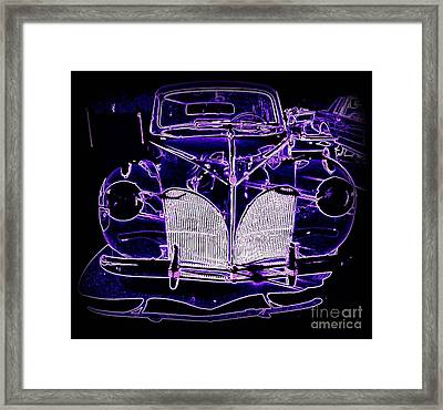 41 Lincoln In Neon Framed Print by Bobbee Rickard