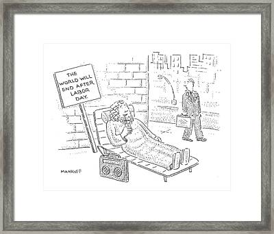 Untitled Framed Print by Robert Mankoff
