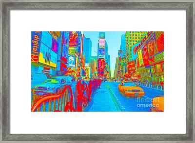 42 Street Neon Framed Print by Dan Hilsenrath