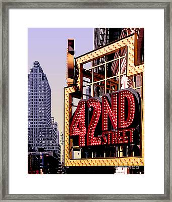 42nd Street New York City Framed Print by Linda  Parker
