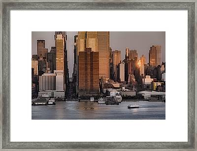 42nd Street Times Square Framed Print by Susan Candelario