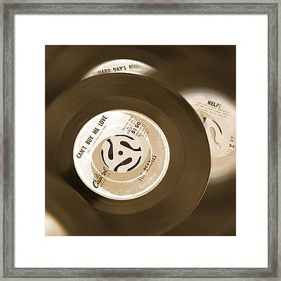 45 Rpm Records Framed Print by Mike McGlothlen