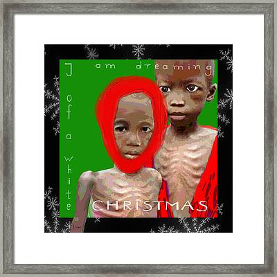 453 - We Are Dreaming Of A .... Christmas Framed Print by Irmgard Schoendorf Welch