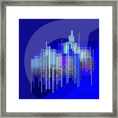 462 - Big City Abstract ... Framed Print by Irmgard Schoendorf Welch