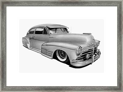 48 Chevy Fleetline Framed Print by Lyle Brown