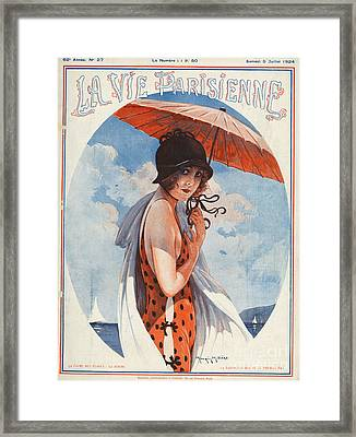 La Vie Parisienne  1924 1920s France Framed Print by The Advertising Archives
