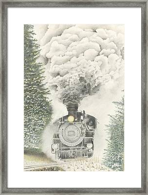 486 In The Snow Framed Print by Patty Poole