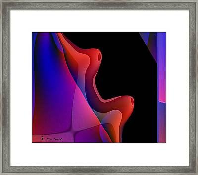 495 - Red Hot Fantasy Framed Print by Irmgard Schoendorf Welch