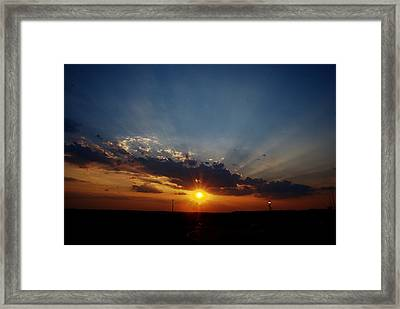4th July Sunset 2013 Framed Print by Roy Williams
