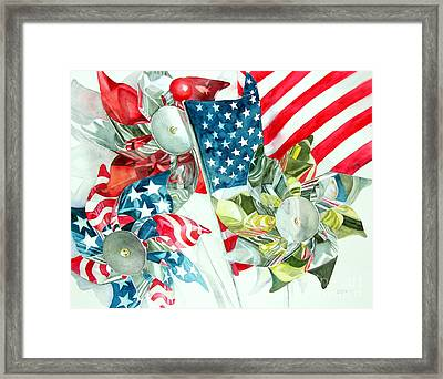 4th Of July Framed Print by Elizabeth  McRorie
