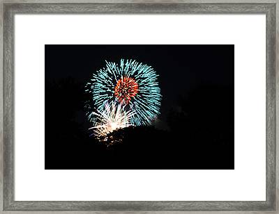 4th Of July Fireworks - 011331 Framed Print by DC Photographer