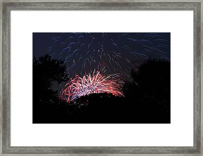 4th Of July Fireworks - 01135 Framed Print by DC Photographer