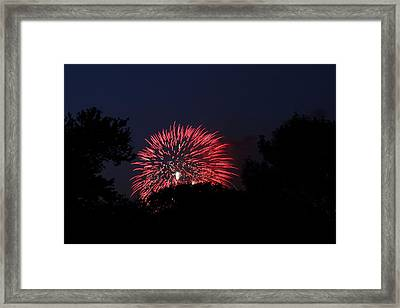 4th Of July Fireworks - 01136 Framed Print by DC Photographer