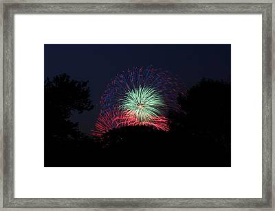 4th Of July Fireworks - 01137 Framed Print by DC Photographer