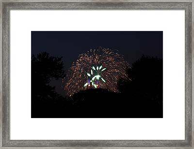 4th Of July Fireworks - 01138 Framed Print by DC Photographer