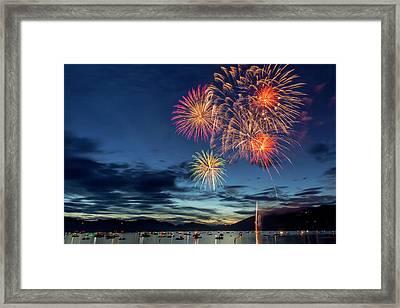 4th Of July Fireworks Celebration Framed Print by Chuck Haney