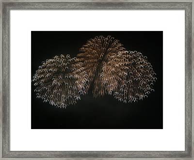 4th Of July Fireworks On San Francisco Bay Framed Print by Scott Lenhart