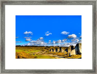 #18 At Chambers Bay Golf Course  Framed Print by David Patterson