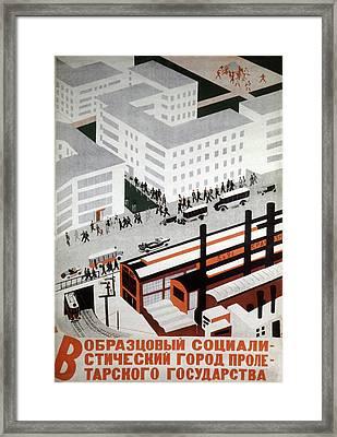 1930s Soviet Propaganda Poster Framed Print by Cci Archives