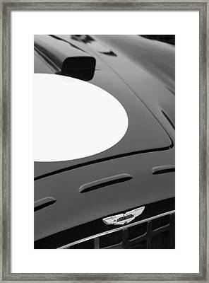 1952 Aston Martin Db3 Sports Hood Emblem Framed Print by Jill Reger