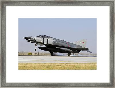A Turkish Air Force F-4e-2020 Framed Print by Daniele Faccioli