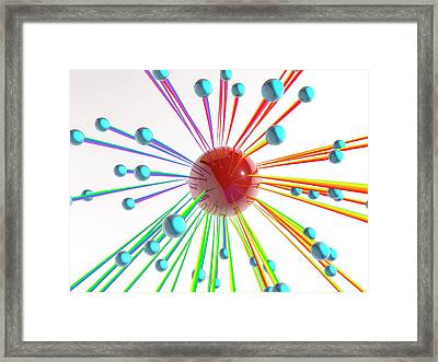 Abstract Artwork With Connected Spheres Framed Print by Pasieka
