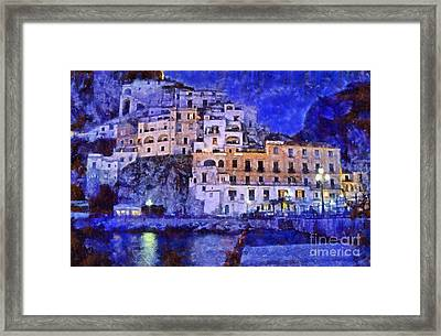 Amalfi Town In Italy Framed Print by George Atsametakis
