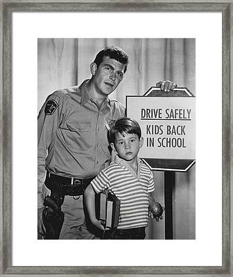 Andy Griffith Framed Print by Retro Images Archive