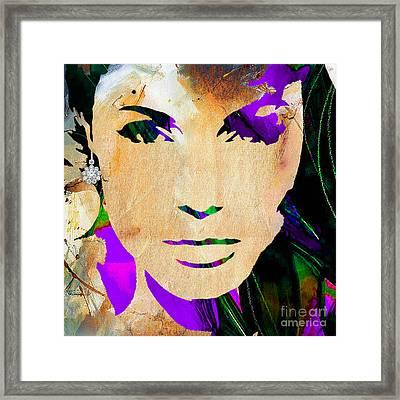Angelina Jolie Diamond Collection Framed Print by Marvin Blaine