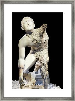 Antikythera Shipwreck Artifact Framed Print by Louise Murray