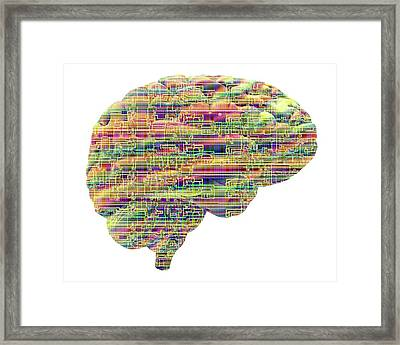 Artificial Intelligence And Cybernetics Framed Print by Alfred Pasieka