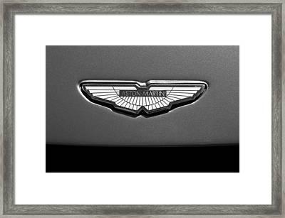 Aston Martin Emblem Framed Print by Jill Reger