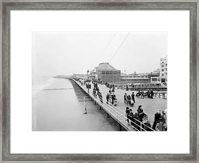 Atlantic City Boardwalk Framed Print by Granger