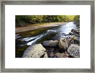 Autumn Along Cranberry River Framed Print by Thomas R Fletcher