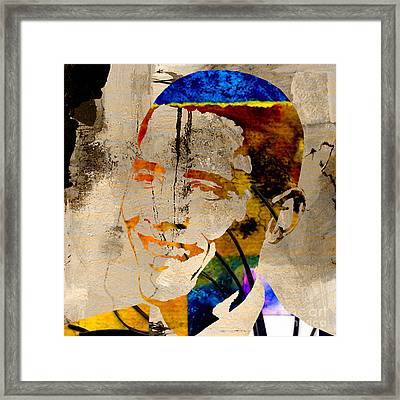 Barack Obama Framed Print by Marvin Blaine