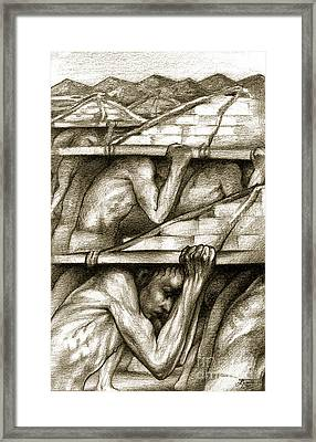 Biblical Illustration Framed Print by Alex Tavshunsky